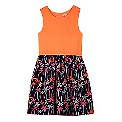 bluezoo - Girl's coral palm tree dress