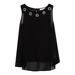bluezoo - Girl's black gem neck vest