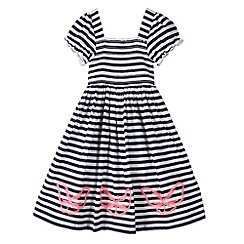 bluezoo - Girl's white butterfly applique dress