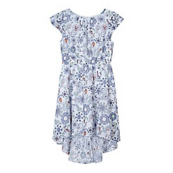 bluezoo - Girl's white floral bird print dress
