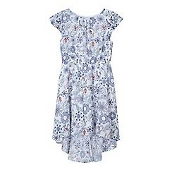 bluezoo - Girl's white floral bird print dress