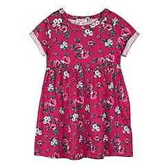 bluezoo - Girl's pink floral printed skater dress