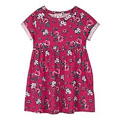 bluezoo - Girl's pink floral printed skater dress