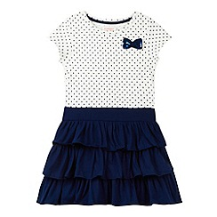 bluezoo - Girl's navy jersey ra-ra dress
