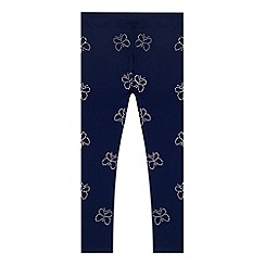 bluezoo - Girl's navy diamante butterfly leggings