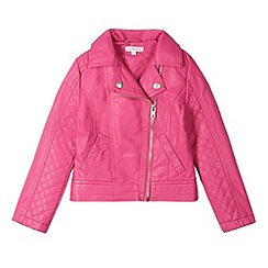 bluezoo - Girl's pink biker jacket