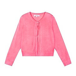 bluezoo - Girl's neon pink knitted bolero