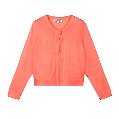 bluezoo - Girl's neon coral knitted bolero