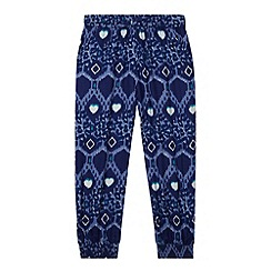 bluezoo - Girl's navy print hareem pants