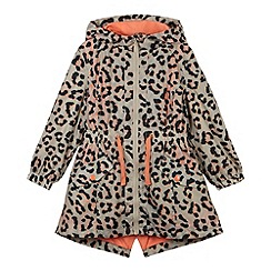 bluezoo - Girl's coral hooded animal mac coat