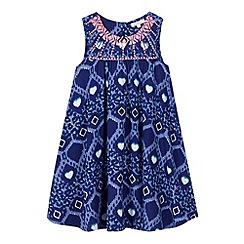 bluezoo - Girl's navy sequin embellished dress