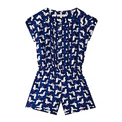 bluezoo - Girl's navy seagull playsuit