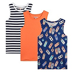 bluezoo - Pack of three girl's navy lilo vests