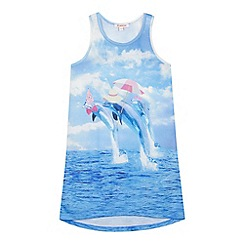 bluezoo - Girl's dolphin long beach top