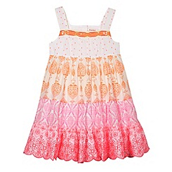 bluezoo - Girl's white neon tiered dress