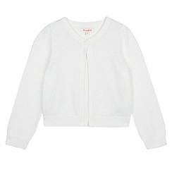 bluezoo - Girl's white knitted bolero