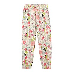 bluezoo - Girl's natural tropical print leggings