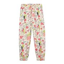 bluezoo - Girl's natural tropical print leggings