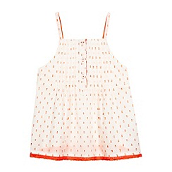 bluezoo - Girl's cream neon spot top