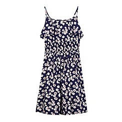 bluezoo - Girl's navy daisy print dress