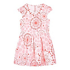 bluezoo - Girl's pink neon floral dress