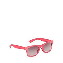 bluezoo - Girl's pink glitter wayfarer sunglasses