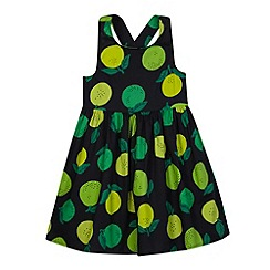 bluezoo - Girl's black lime print dress