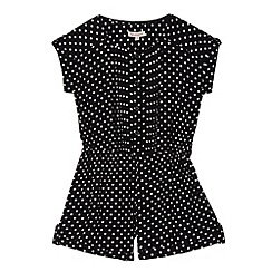 bluezoo - Girl's black spotted playsuit