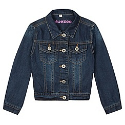 bluezoo - Girl's dark blue denim jacket