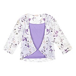 bluezoo - Girl's lilac camisole and butterfly kimono set