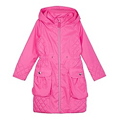 bluezoo - Girl's neon pink parka jacket