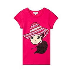 bluezoo - Girl's pink girl in hat t-shirt
