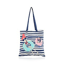 bluezoo - Girl's navy rubber ring shopper bag