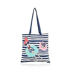 bluezoo - Girl's navy rubber ring shopper bag