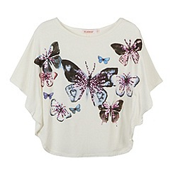 bluezoo - Girl's cream watercolour cape top