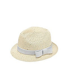 bluezoo - Girl's natural sequin straw trilby hat