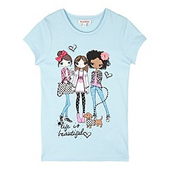bluezoo - Girl's light blue 'BFF' top