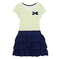 bluezoo - Girl's lime striped frilly skirt dress