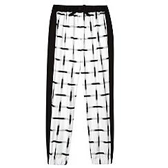 bluezoo - Girl's white grid print trousers