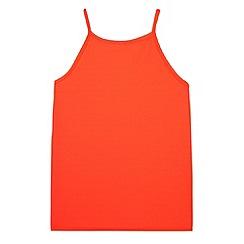 bluezoo - Girl's neon coral vest top