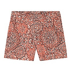 bluezoo - Girl's bright coral floral shorts