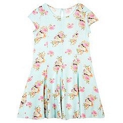 bluezoo - Girl's green pretty floral sundress