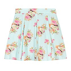 bluezoo - Girl's green pretty floral skirt