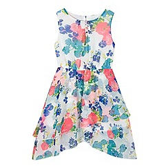bluezoo - Girl's white tropical floral dress