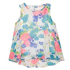 bluezoo - Girl's white tropical floral vest