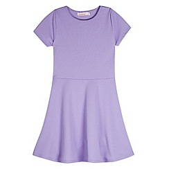 bluezoo - Girl's lilac textured skater dress