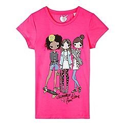 bluezoo - Girl's neon pink 'Summer time fun' t-shirt