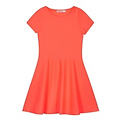 bluezoo - Girl's coral skater dress