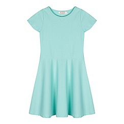 bluezoo - Girl's aqua textured skater dress