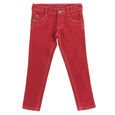 Girls Red Skinny Jeans